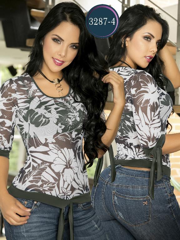Blusa Moda Colombiana Thaxx  - Ref. 119 -3287-4 Verde