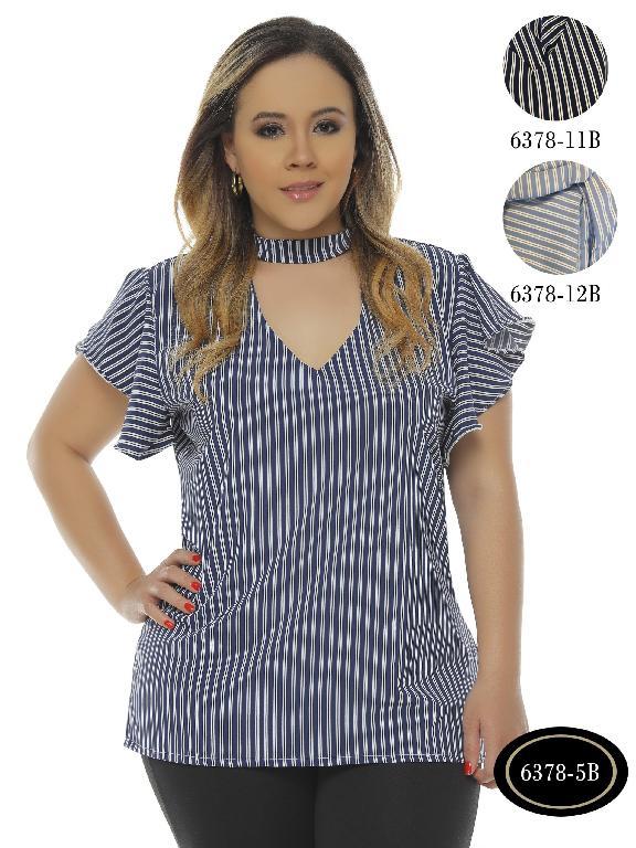 Blusa Moda Colombiana Bambu - Ref. 250 -6378-5B Azul Medio