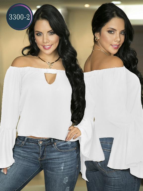 Blusa Moda Colombiana Thaxx  - Ref. 119 -3300-2 Blanco