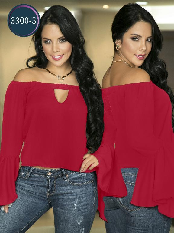 Blusa Moda Colombiana Thaxx  - Ref. 119 -3300-3 Rojo