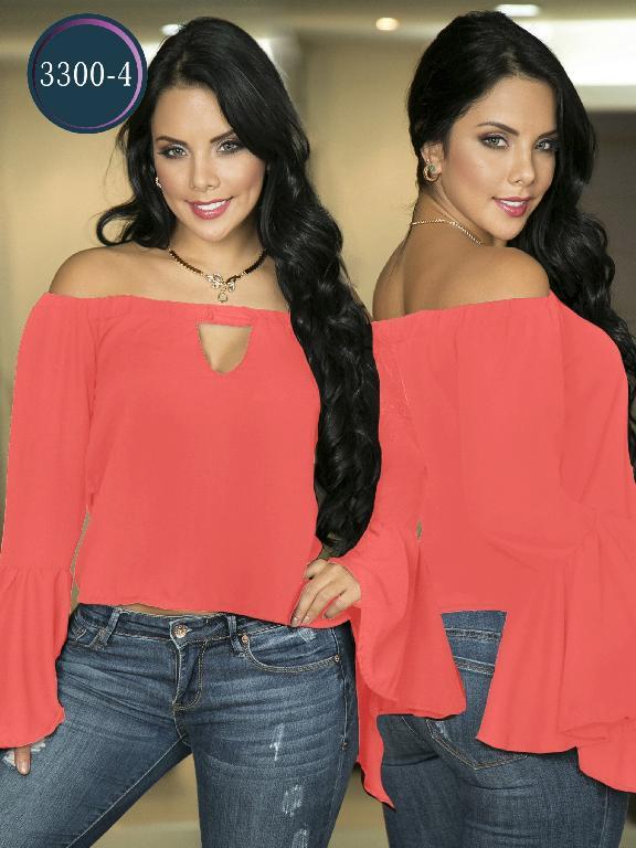 Blusa Moda Colombiana Thaxx  - Ref. 119 -3300-4 Naranja