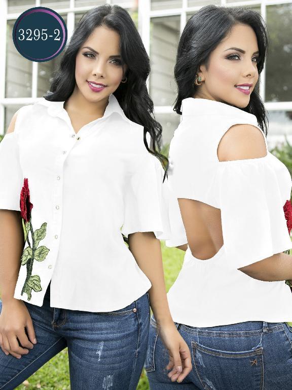 Blusa Moda Colombiana Thaxx  - Ref. 119 -3295-2 Blanco