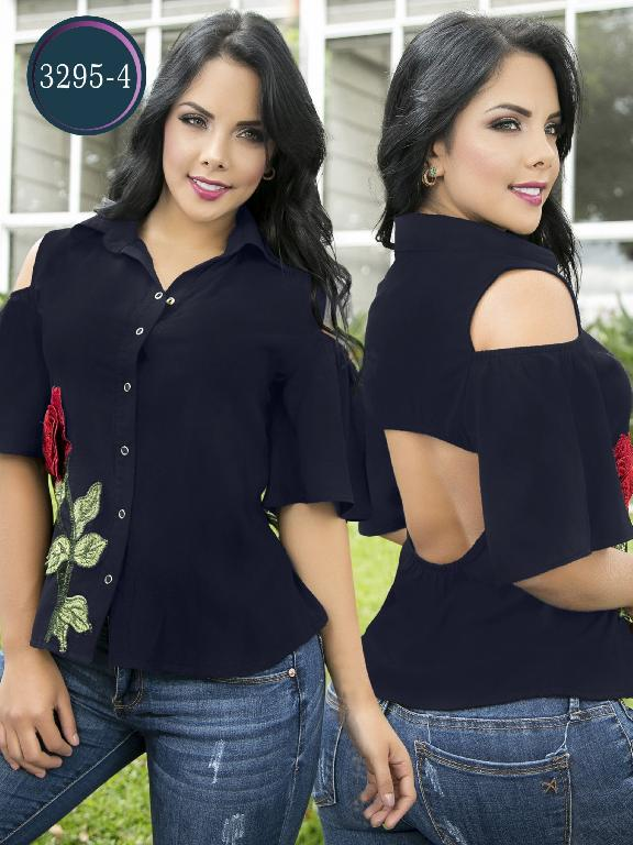 Blusa Moda Colombiana Thaxx  - Ref. 119 -3295-4 Azul