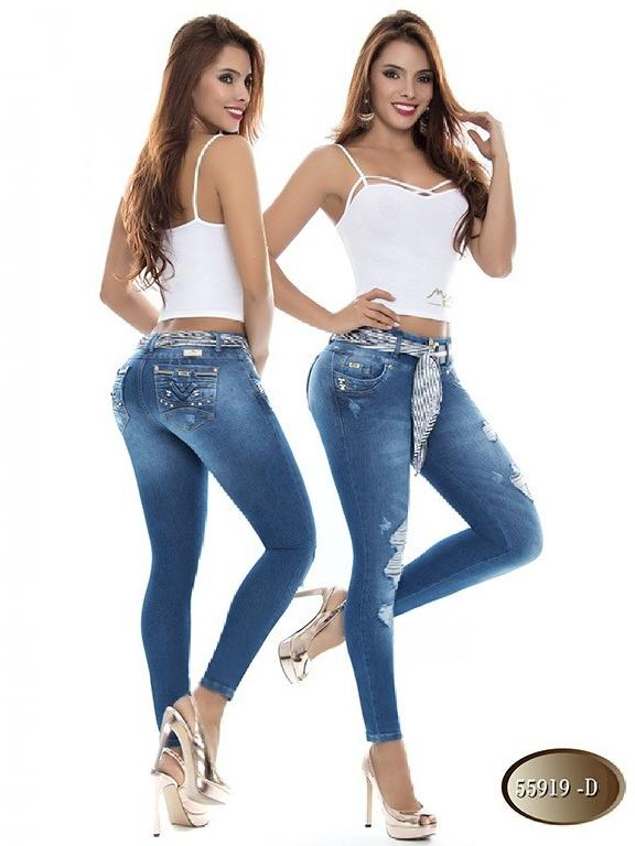 Jeans Levantacola Colombiano Do Jeans  - Ref. 248 -55919 D