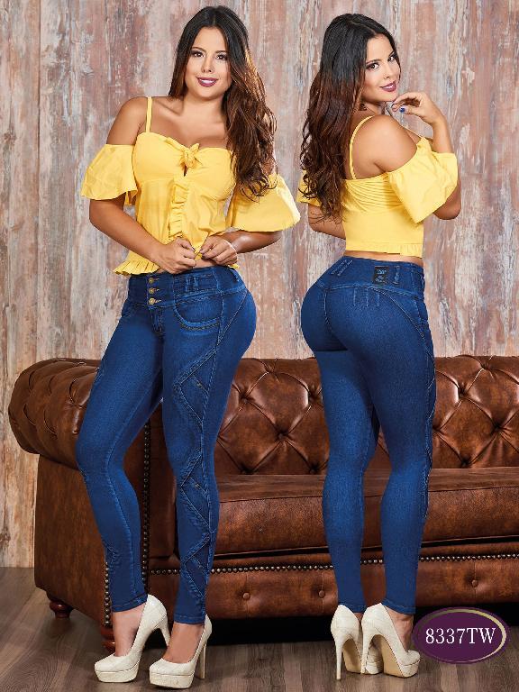 Jeans Levantacola Colombiano Top Women  - Ref. 123 -8337 TW