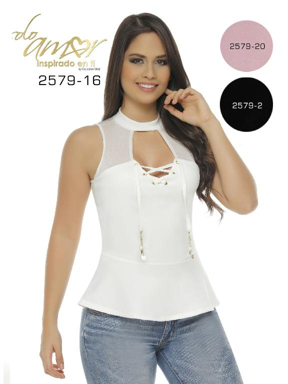 Blusa Moda Colombiana Solo Amor  - Ref. 246 -2579-16 Beige