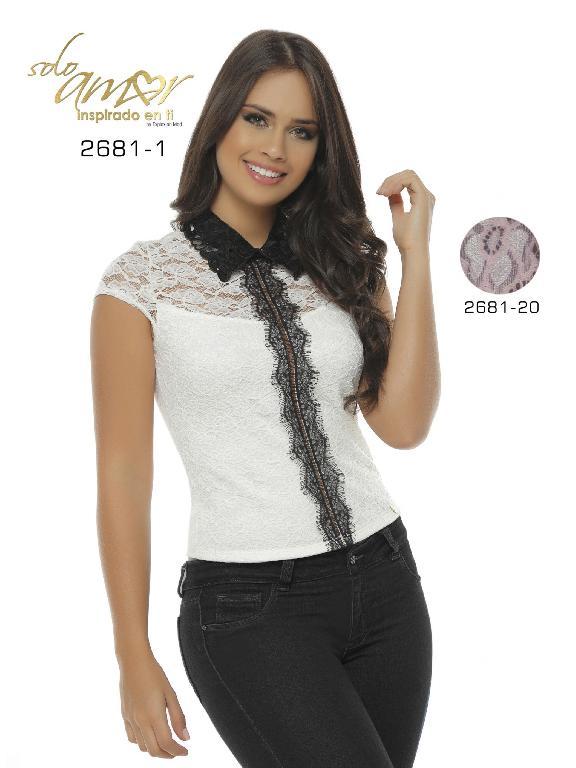 Blusa Moda Colombiana Solo Amor  - Ref. 246 -2681-1 Blanco