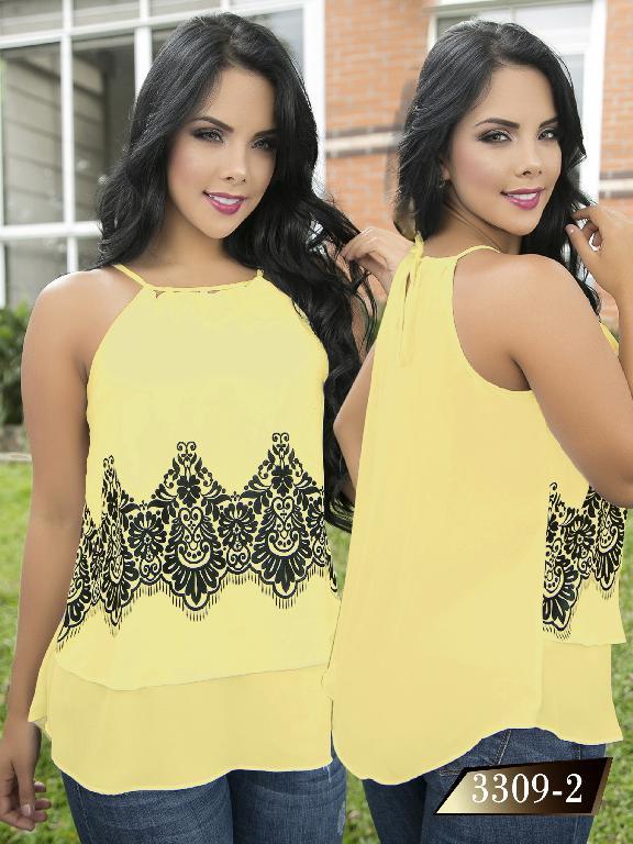 Blusa Moda Colombiana Thaxx  - Ref. 119 -3309-2 Amarillo