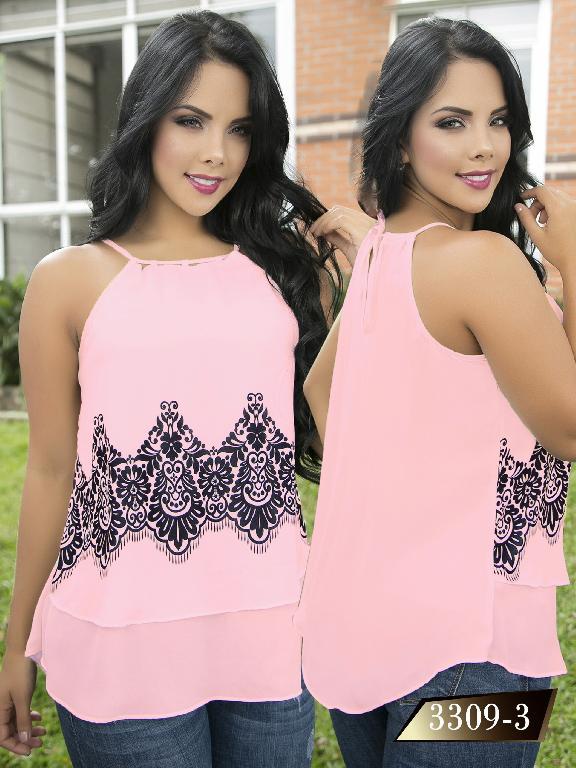 Blusa Moda Colombiana Thaxx  - Ref. 119 -3309-3 Rosado