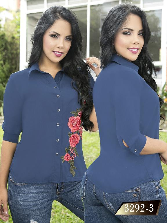 Blusa Moda Colombiana Thaxx  - Ref. 119 -3292-3 Azul