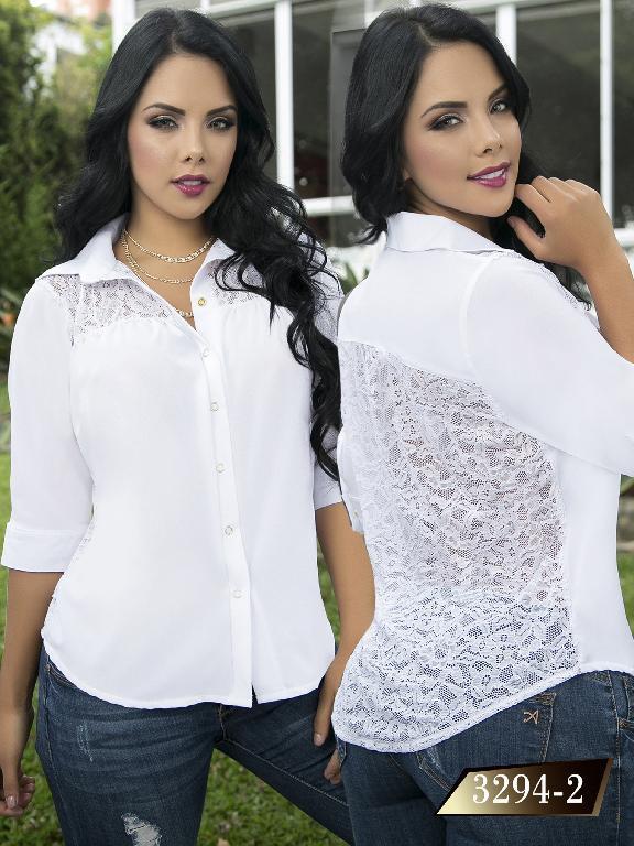 Blusa Moda Colombiana Thaxx  - Ref. 119 -3294-2 Blanco