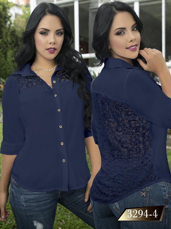 Blusa Moda Colombiana Thaxx  - Ref. 119 -3294-4 Azul