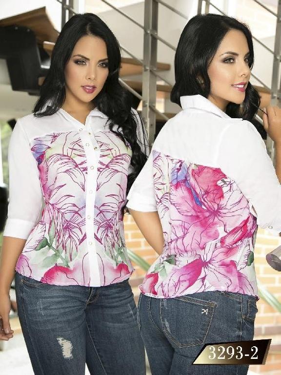 Blusa Moda Colombiana Thaxx  - Ref. 119 -3293-2 Blanco