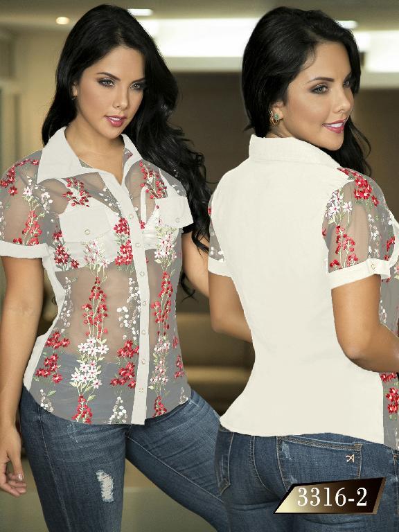 Blusa Moda Colombiana Thaxx  - Ref. 119 -3316-2 Beige