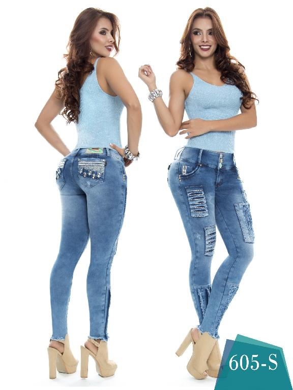 Colombian Sexy Jeans Butt Lifting Blue Duchess - Ref. 237 -605 S