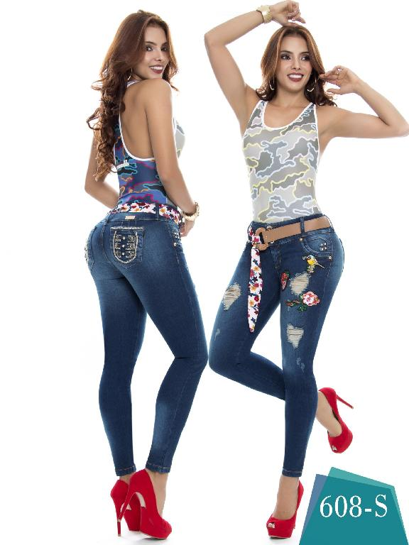 Jeans Levantacola Colombiano Duches  - Ref. 237 -608 S