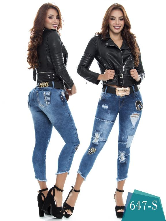 Colombian Jeans Butt Lifting Blue Color Duchess - Ref. 237 -647 S