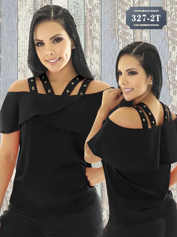 Blusa Moda Colombiana Tabbachi - Ref. 236 -327-2 Negro