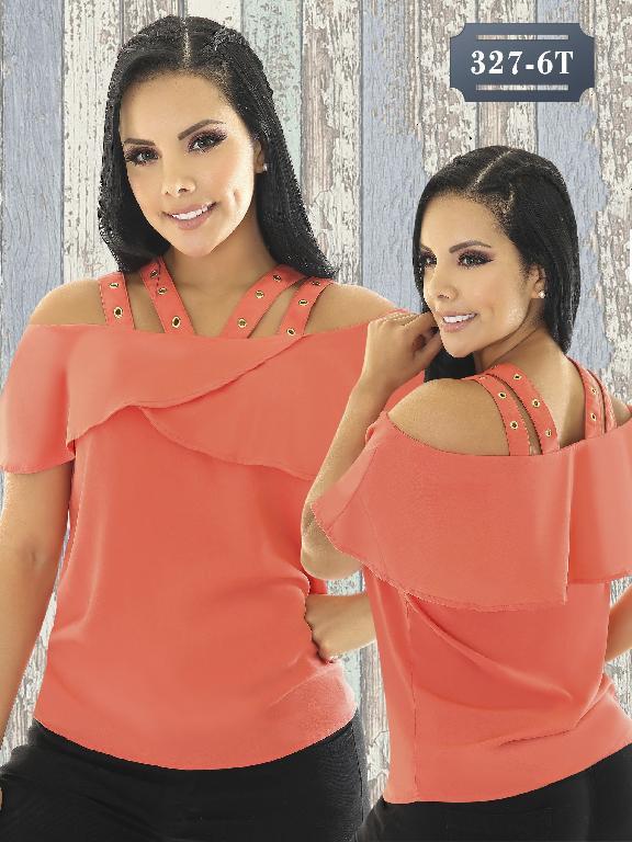 Blusa Moda Colombiana Tabbachi - Ref. 236 -327-6 Naranja