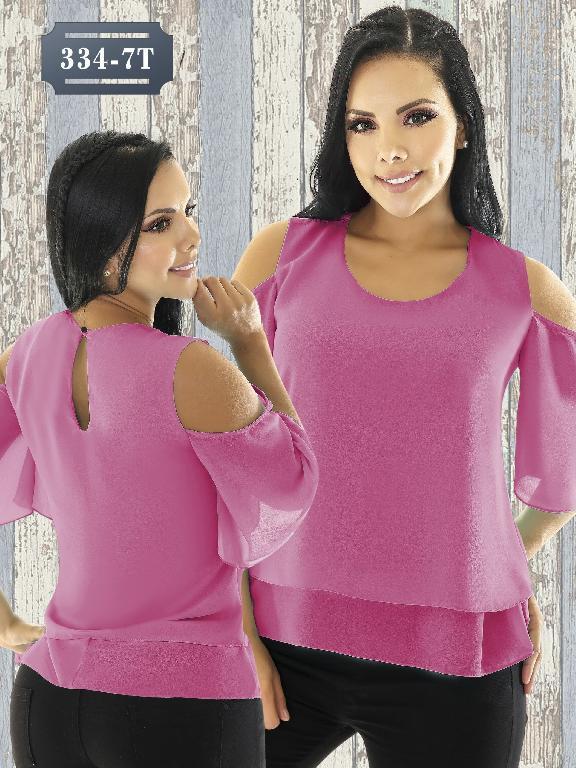 Blusa Moda Colombiana Tabbachi - Ref. 236 -334-7 Fucsia
