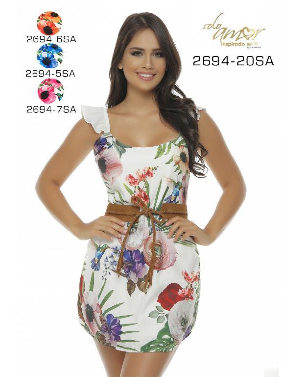 Vestido Moda Colombiana Solo Amor  - Ref. 246 -2694-6SA NARANJA