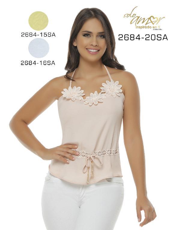 Blusa Moda Colombiana Solo Amor  - Ref. 246 -2684-16 SA Beige