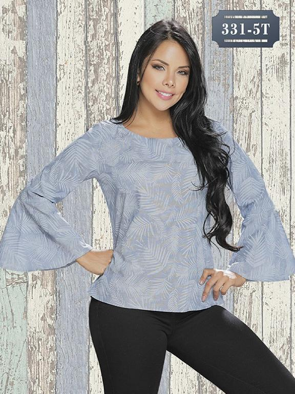 Blusa Moda Colombiana Tabbachi - Ref. 236 -331-5 Azul