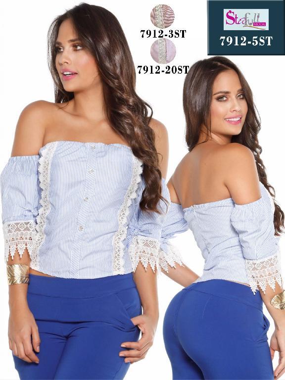Blusa Moda Colombiana Stafull  - Ref. 247 -7912-20ST Rosado