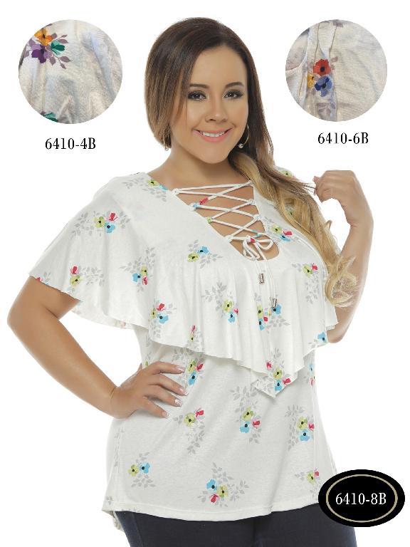 Blusa Moda Colombiana Bambu - Ref. 250 -6410-4 B Morado
