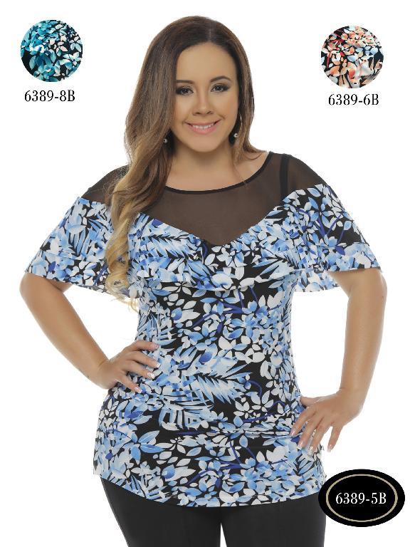 Blusa Moda Colombiana Bambu - Ref. 250 -6389-6 B Naranja