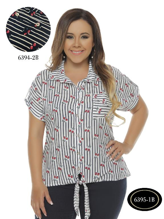 Blusa Moda Colombiana Bambu - Ref. 250 -6395-1 B Blanco