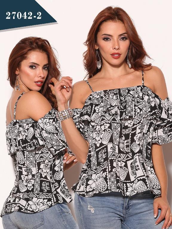 Blusa Moda Colombiano Cereza - Ref. 111 -27042-2 Negro