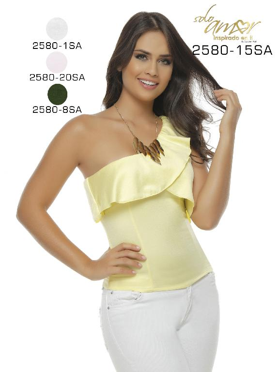 Blusa Moda Colombiana Solo Amor  - Ref. 246 -2580-1 SA Blanco