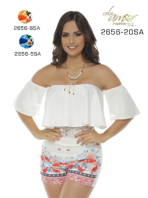 Vestido Moda Colombiana Solo Amor  - Ref. 246 -2656-5 SA Azul
