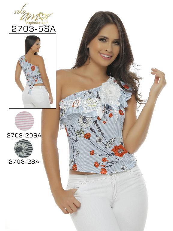 Blusa Moda Colombiana Solo Amor  - Ref. 246 -2703-2 SA Negro
