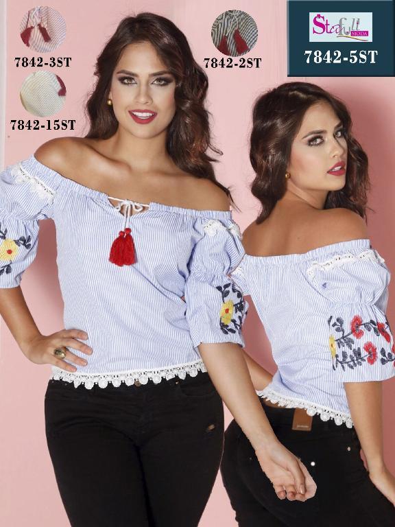 Blusa Moda Colombiana Stafull - Ref. 247 -7842-2 ST Negro