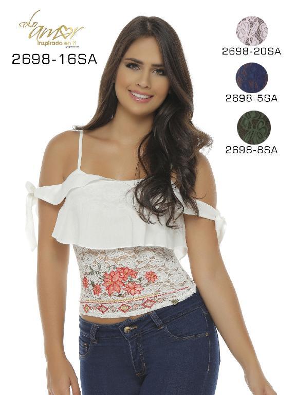 Blusa Moda Colombiana Solo Amor  - Ref. 246 -2698-8 SA VERDE