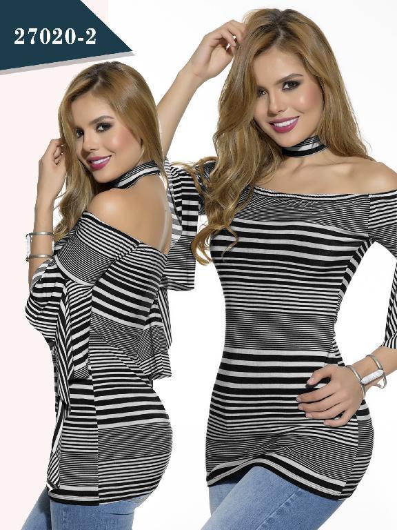 Blusa Moda colombiana Cereza - Ref. 111 -27020-2 Negro