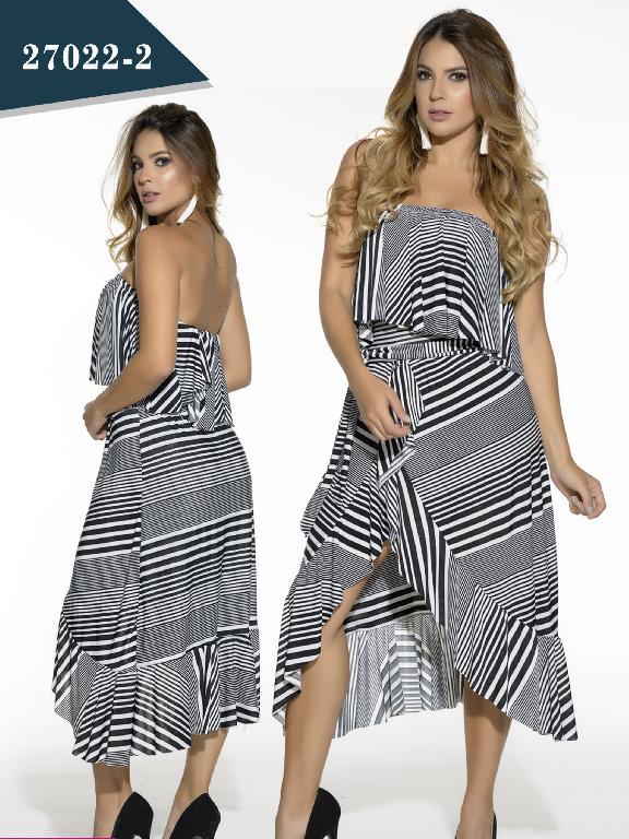 Vestido Moda Colombiana Cereza - Ref. 111 -27022-2 Negro