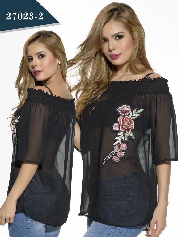 Blusa Moda Colombiano Cereza - Ref. 111 -27023-2 Negro
