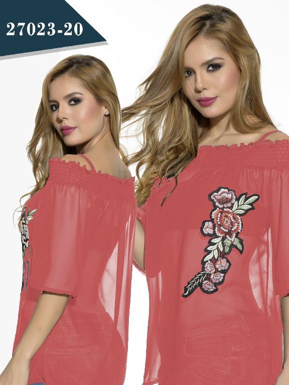 Blusa Moda Colombiano Cereza - Ref. 111 -27023-20 Rosado