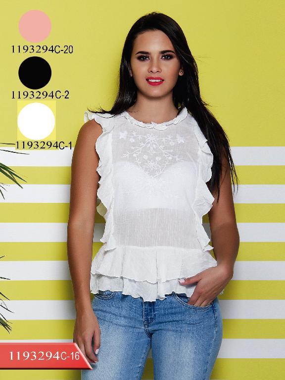 Blusa Moda colombiana Colors - Ref. 254 -1193294C-1 Blanco