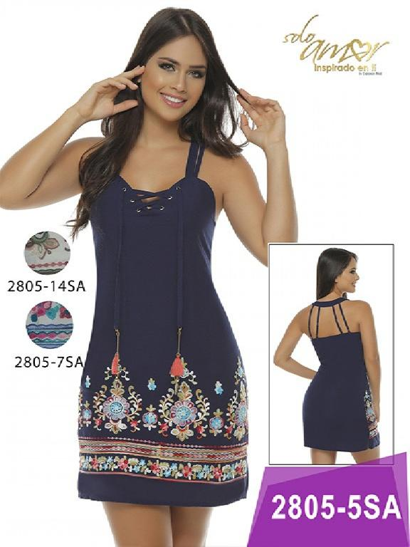Vestido Moda Colombiana Solo Amor - Ref. 246 -2805-14 Vinotinto
