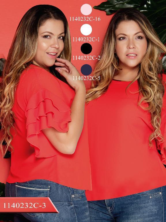Blusa Moda Colombiana Colors  - Ref. 254 -1140232C-1 Blanco