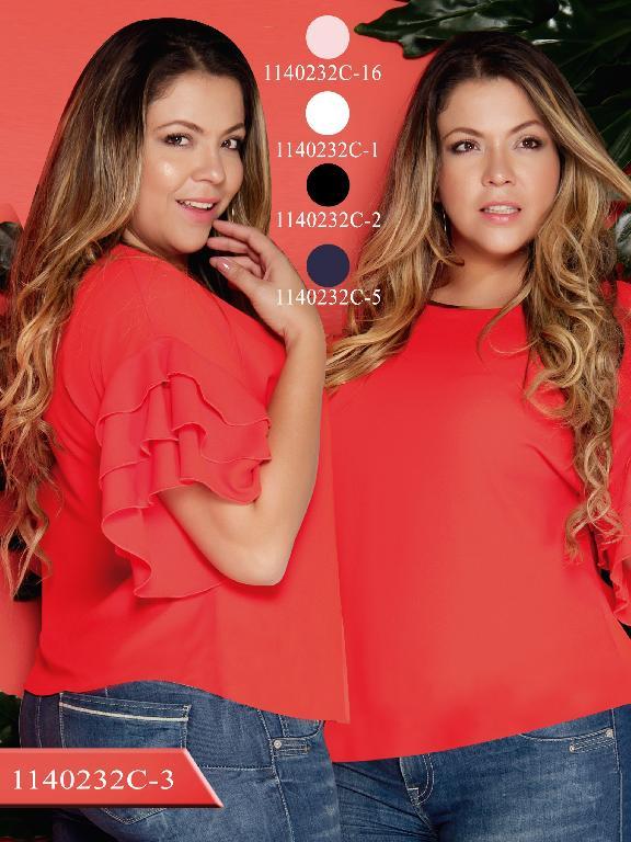 Blusa Moda Colombiana Colors  - Ref. 254 -1140232C-3 Rojo