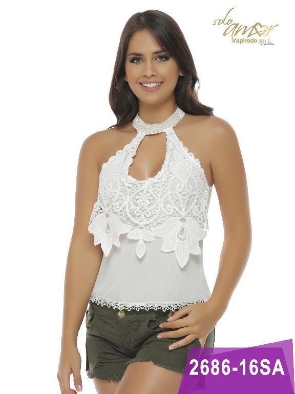 Blusa Moda Colombiana Solo Amor  - Ref. 246 -2686-16 Beige