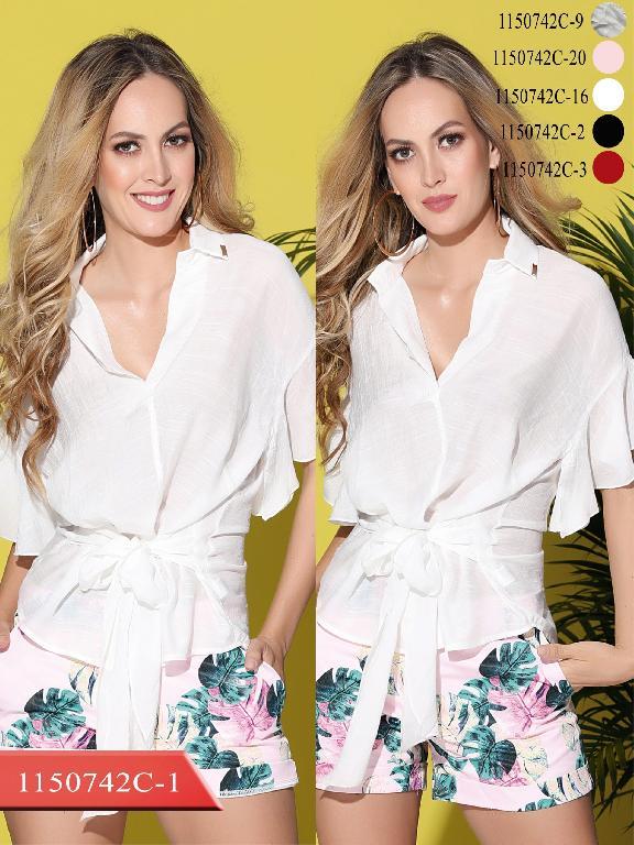 Blusa Moda Colombiana Colors - Ref. 254 -1150742C-16 Beige
