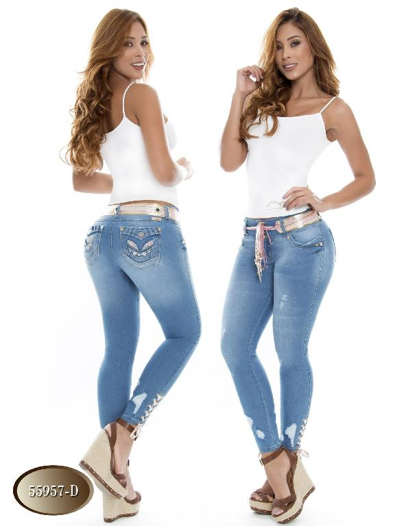 Jeans Levantacola Colombiano Do Jeans - Ref. 248 -55957 D