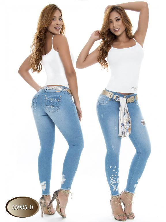 Jeans Levantacola Colombiano Do Jeans  - Ref. 248 -55985 D
