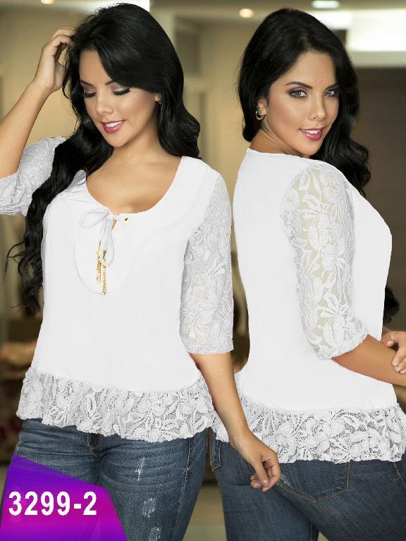 Blusa Moda Colombiana Thaxx  - Ref. 119 -3299-2 Blanco